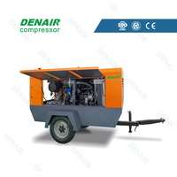 diesel driven portable compressor machine for chipping hammers