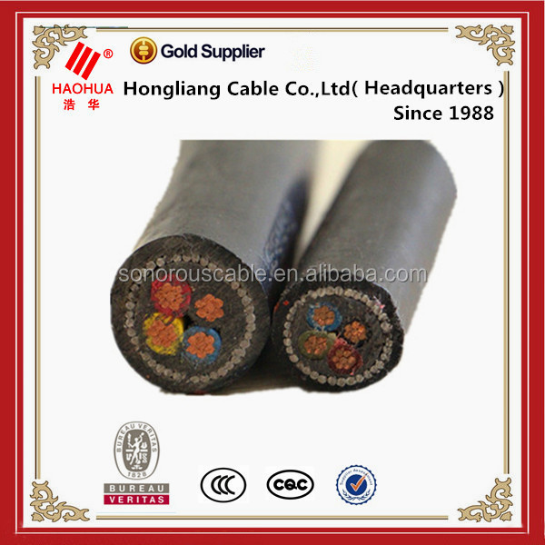 Coal mining use PVC insulated mining power cable