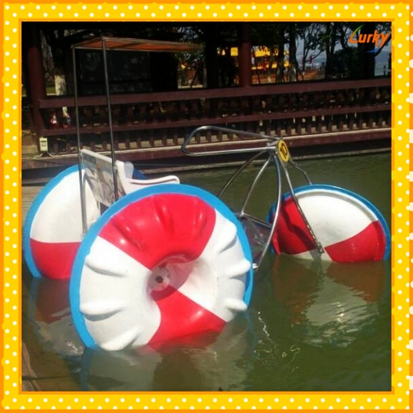 2015 Summer selling well water paddle tricycle/adults paddle tricycle/water paddle bike for sale
