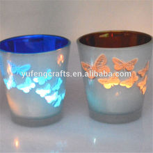 Laser glass Candle Holder china supply