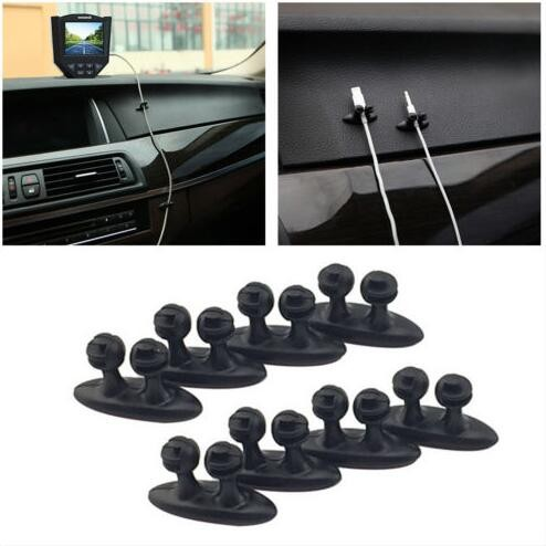 8Pcs Car Wire Cord Cable Holder Tie Clips Line Fixer Organizer Drop Adhesive New