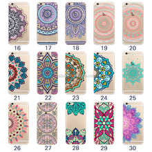 For iphone 6 6S case henna mandala transparent soft tpu back cover