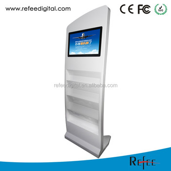 15 to 26 inch magazine brochure leaflet newspaper holder advertising display lcd stand advertising display
