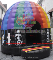 Popular Inflatable Disco Dome Bouncy Castle NFPA701 fireproof