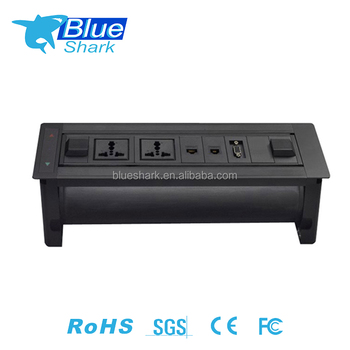 Hidden Power socket/ right anglet tabletop extension pop up interconnect box socket for conference room