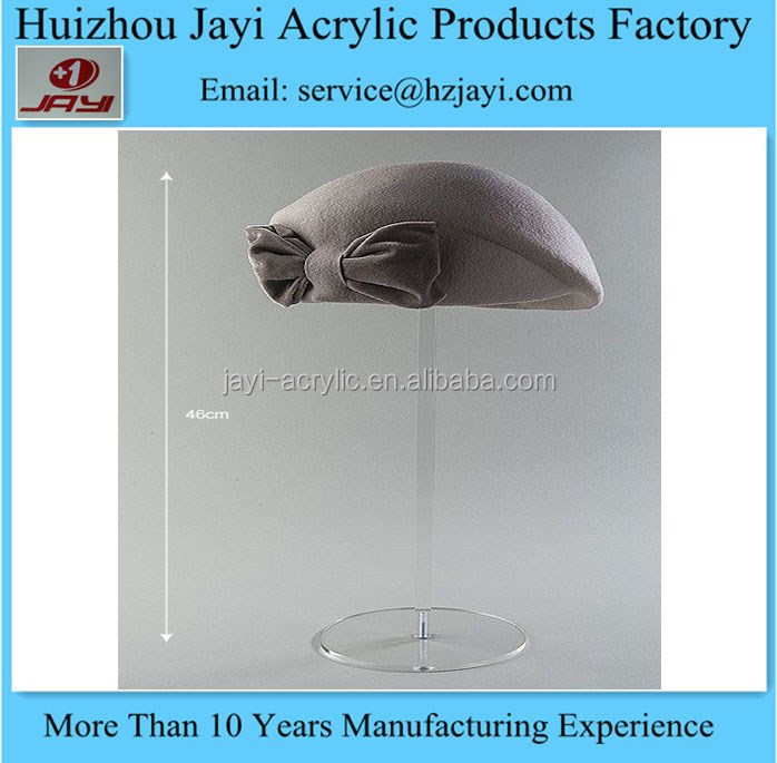 China manufacturer wholesale acrylic cap hat display stand rack for retail store