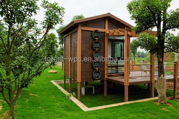 FRSTECH WPC STOCK CO LTD tiny house 12 square meter waterproof anti-UV Stylish WPC House hardwood lumber for sale
