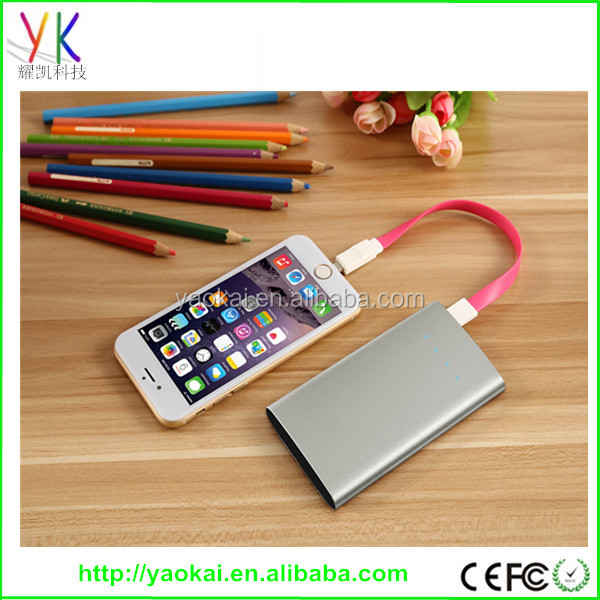 2016 hot new product portable super fast charging slim powerbank 4000mah