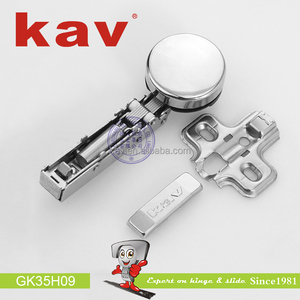 clip on soft closing glass door hinge with cup cap
