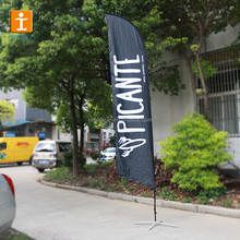 TJ-Cecilia-1775 Big factory price for Advertising flying banner stand/ teardrop banner beach flag