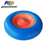 16 inch Cheap Solid plastic wheelbarrow PU Foam Wheel For Sale