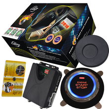 Engine start stop engine push button with immobilizer RFID alarm security system
