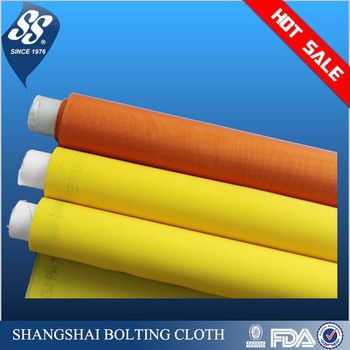 plain weave monofilament polyester printing mesh screen fabric 7t-165t white/yellow