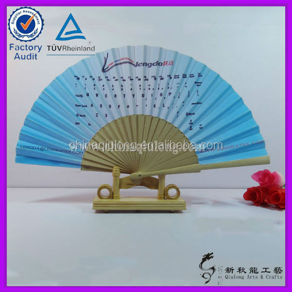Promotional Business Art Minds Woods Crafts Hand Held Fans
