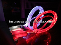 2013 New&hot micro usb cable with led light,LED lighted cable For Samsung/HTC Android smartphones