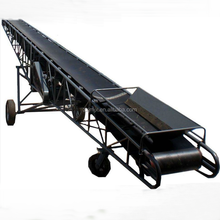 portable rubber belt inclined conveyor