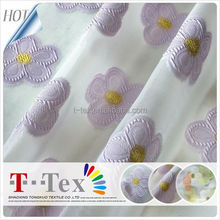Beautiful Frock/Garments/Skirt/Small Flower Pattern Embroidery Fabric Used Embroidery Curtain 100%Polyester Window Gauze