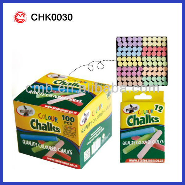 SCHOOL CHALK QUALITY COLORED CHALKS