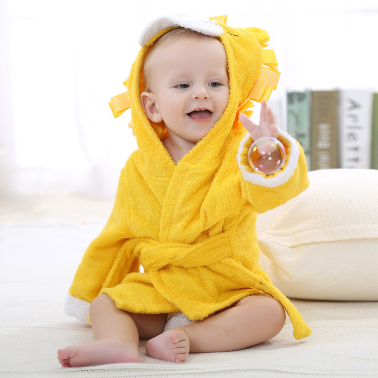 Hot sale animal baby organic bamboo hooded towel