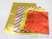 Chocolate packing red color aluminum foil