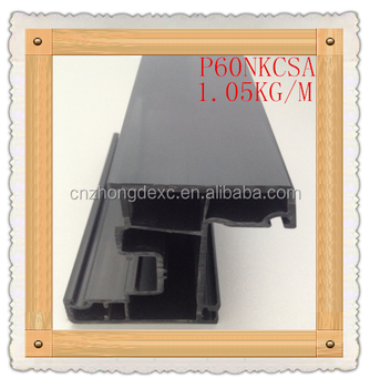 grey/black full color upvc profiles for window and door with anti uv/Extrusion UPVC Profiles