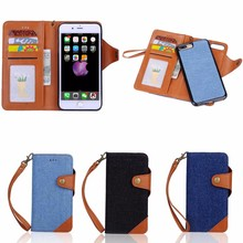 Cowboy Leather Case for iPhone 7 Plus with Detachable Back Cover