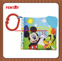Cute mouse soft fabric plush quiet cloth books for children