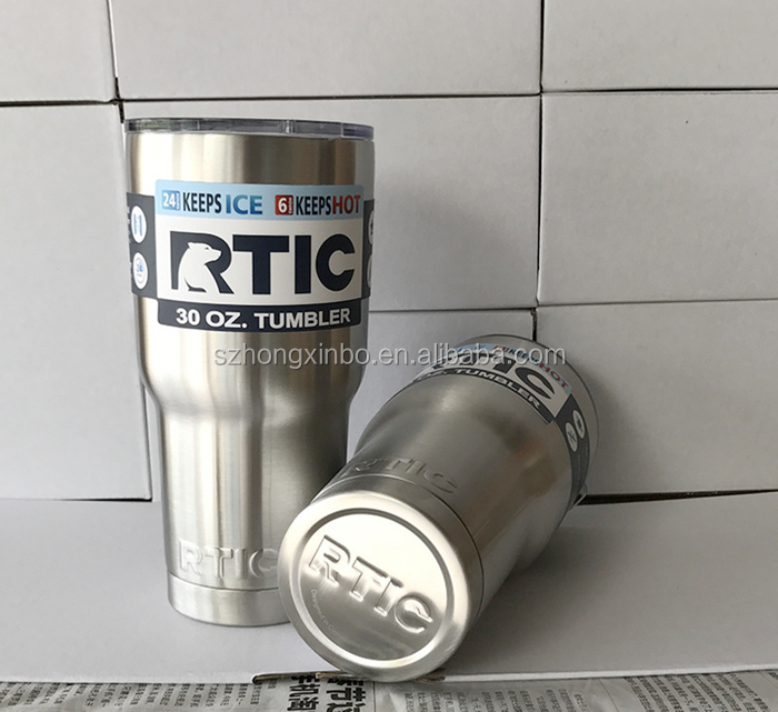 Hongxinbo Custom 30oz Double Wall Insulated Stainless Steel Rtic Tumbler with Lids