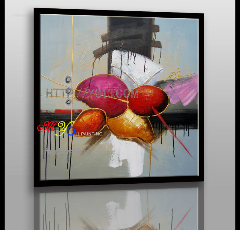modern hand painted home art decor Artwork abstract red ball oil painting on canvas