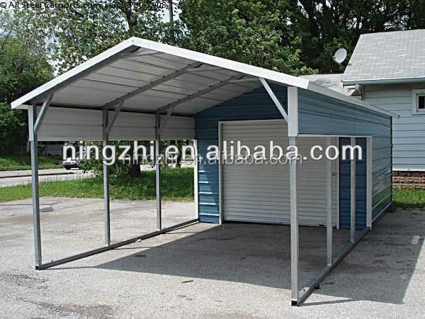 Metal carport steel garage with storage room Carport with storage room