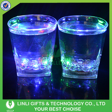 285ml Plastic Colorful LED Flashing Whiskey Glass