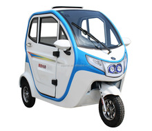 3 Wheel Electric Taxi / Closed Cabin Passenger Tricycle