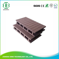 Outdoor Wood Plastic Composite high quality house plan wpc decking