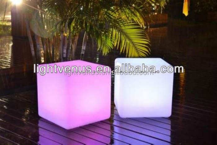 colorfull illuminated led glow cube chair