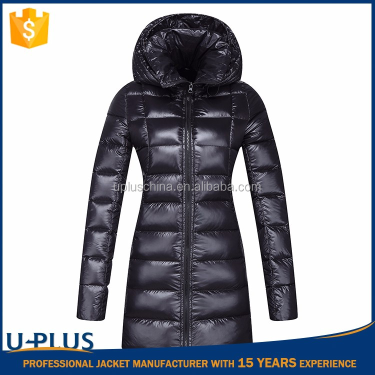 Hot selling long winter coat with hood with high quality