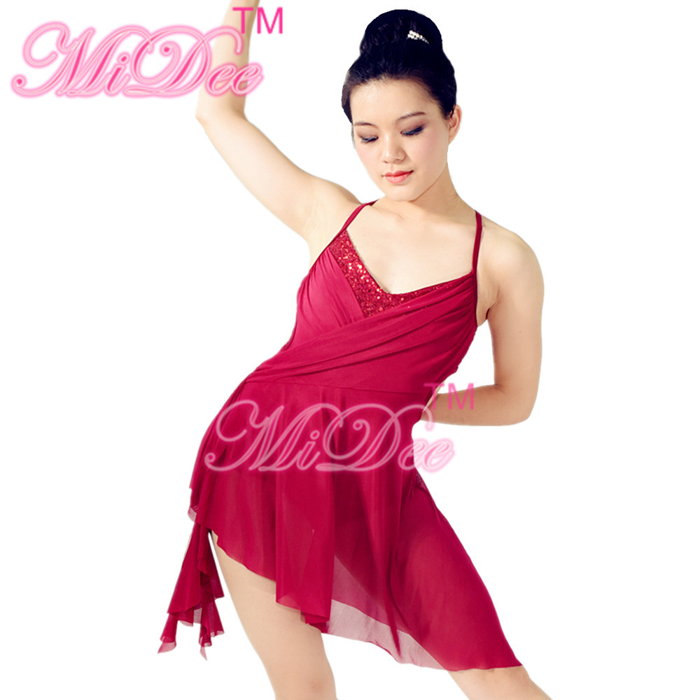 MiDee Modern Stage Performance Costumes Lyrical Ballet Dance Dress For Girls