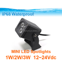 Mini Floodlight 3W LED Light Buried Floor Ground Garden Yard Light 12-24VDC