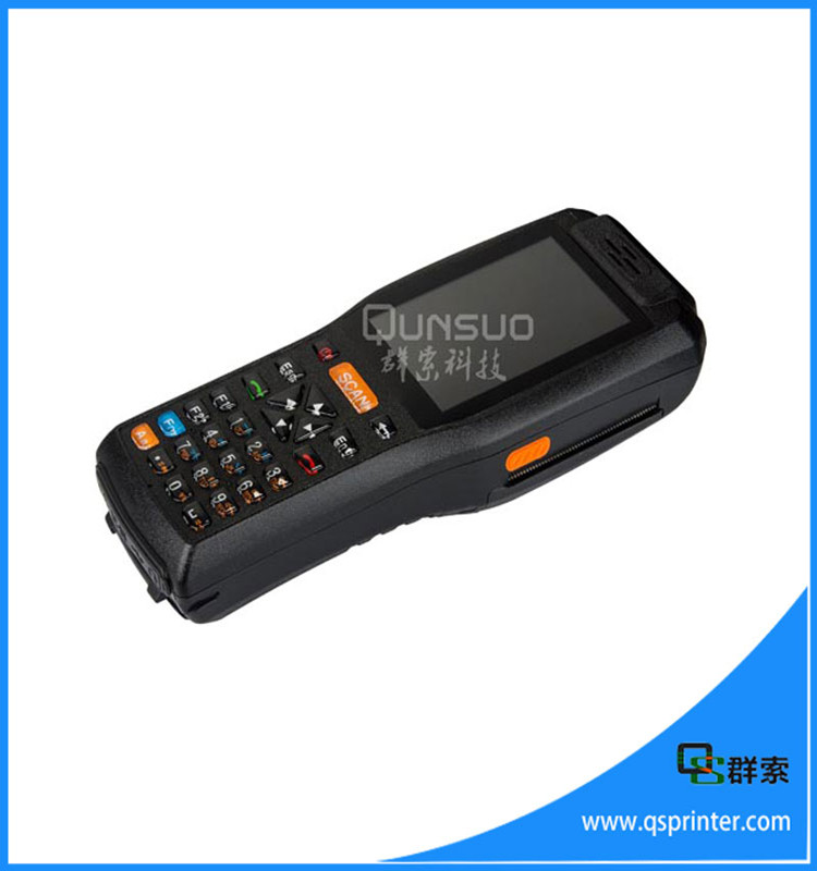 China supplier Android handheld industrial pda with printer ,mobile data pos terminal ,1D 2D barcode scanner nfc reader PDA3505