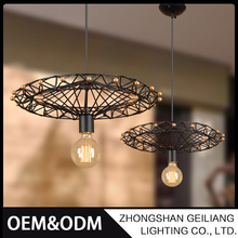 Unique design fashion european style loft retro chandelier lights industrial iron