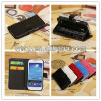Flip leather hard cover case for samsung galaxy s4 mini i9190, waterproof case for samsung galaxy s4 mini i9190