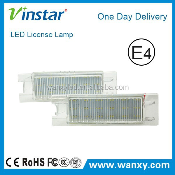 Factory price Vinstar fast delivery led number plate light with canbus for Opel Zafira B(05-11)