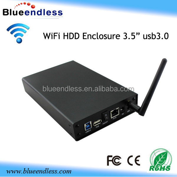 Shenzhen 3.5 inch wifi hdd enclosure 2tb