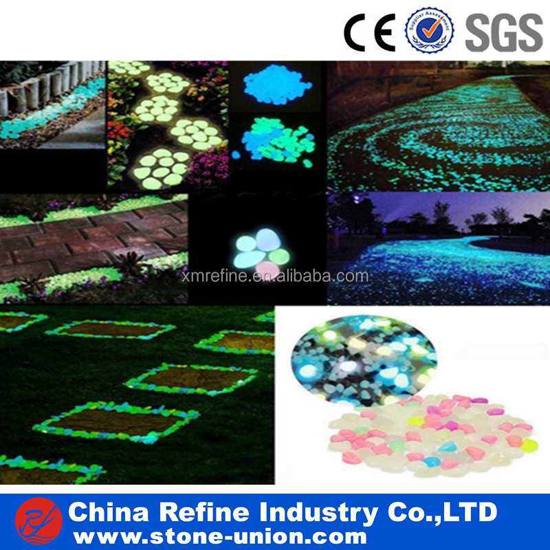 Nature glowing stone for garden and home decoration
