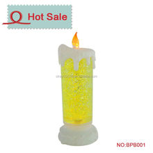 Glow decoration christmas motif led lights candle with water and motor swirl