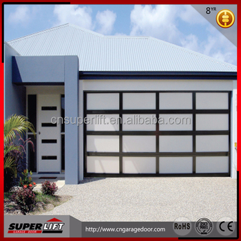 Sectional aluminum alloy glass garage door price buy for Sectional glass garage door
