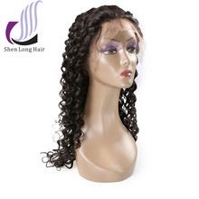 Natural hairline 8A Remy Human Hair Brazilian Deep Wave Lace Front wig Full Lace Wigs