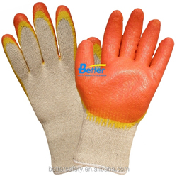Russian White T/C Lined Red Yellow Latex Rubber Glove china supplier