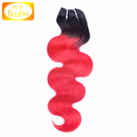 remi virgin human hair weft hair weave indian hair body wave ombre color