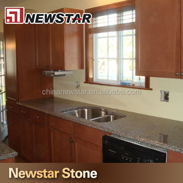Newstar stone precut kitchen countertop for solid wooden cabinets