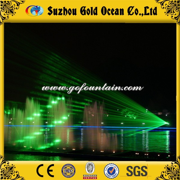 Stunning Green Laser Floating Music Fountain Graphic Laser Light
